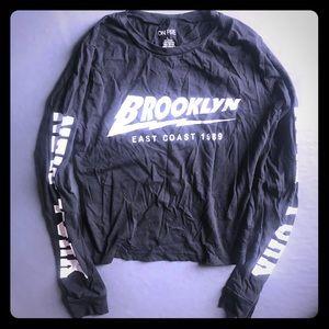 Tops - Brooklyn large black crop top